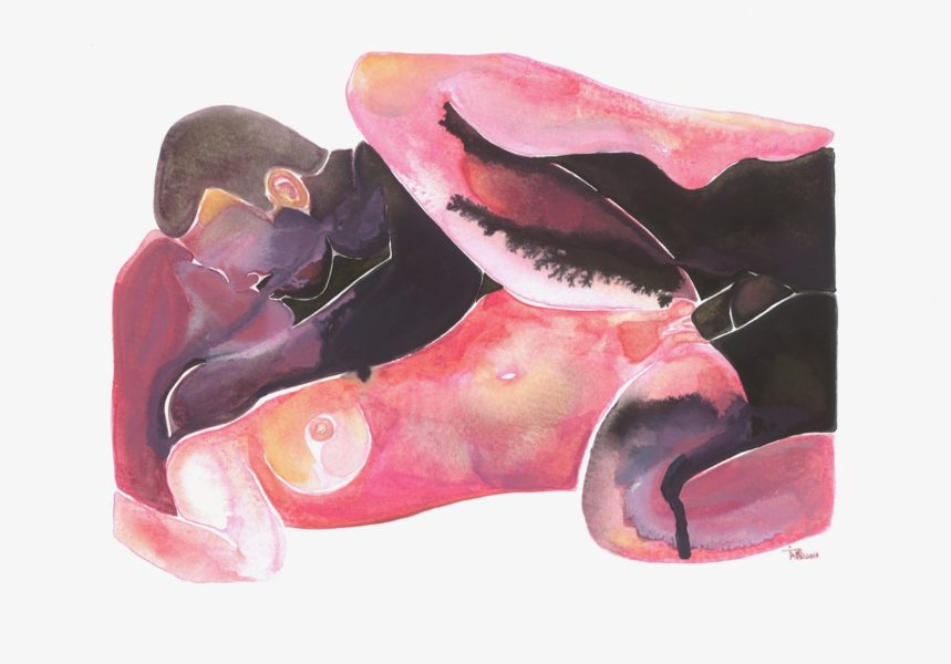 Make Love Watercolor nr. 99 Original