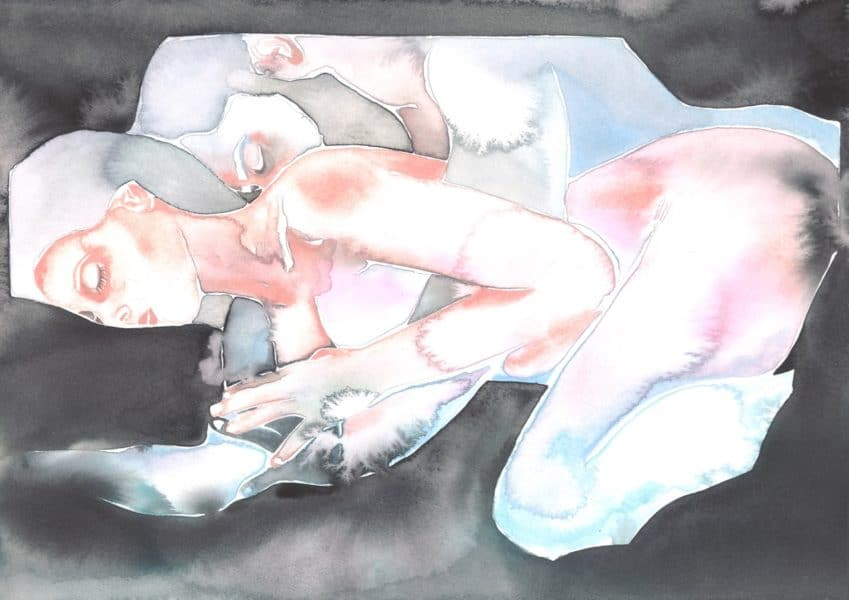 Make Love Watercolor nr. 156 Original