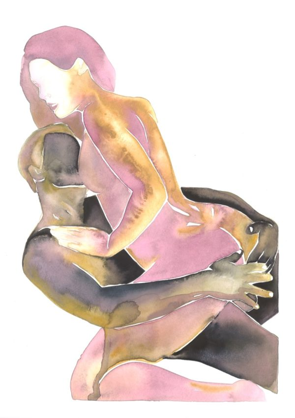 Make Love Watercolor nr. 157 Original