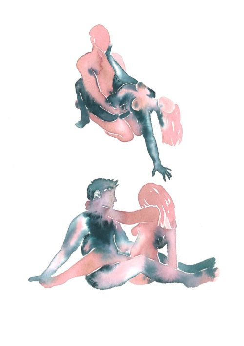 Make Love Watercolor nr. 232 – Original