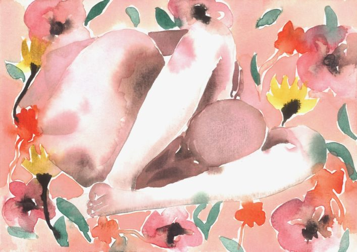 Make Love Watercolor nr. 233 – Original