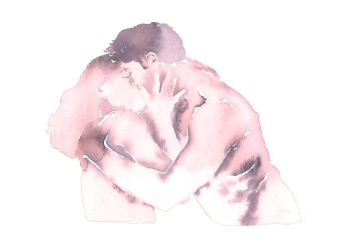 Make Love Watercolor nr. 229 – Original