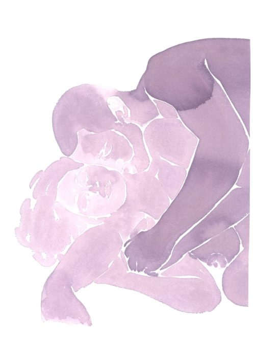 Make Love Watercolor nr. 242 – Original
